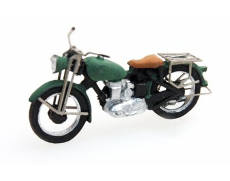 Triumph civilian motorcycle, green