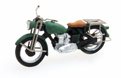 Motorrad Triumph zivil, grün, 1:87 Fertigmodell aus Resin, lackiert