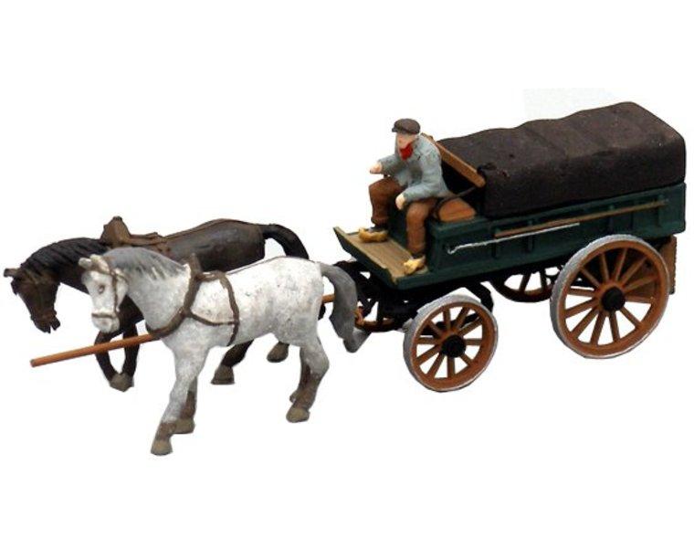 Boerenwagen met dekzeil