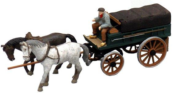 Covered farmer's wagon