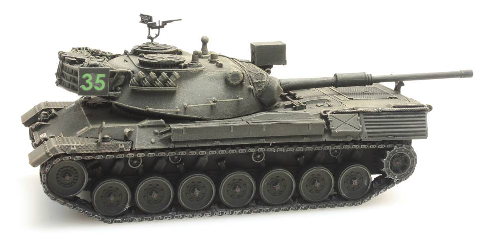 Leopard 1 voor treintransport Belgisch leger