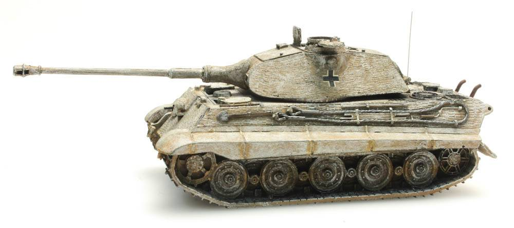 Tiger II Porsche, Zimmerit, Winter, 1:87 Fertigmodell