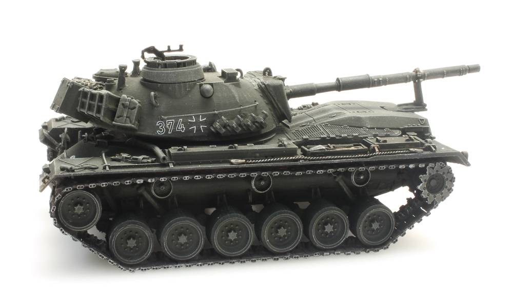 M48A2GA2 Gelboliv für Eisenbahntransport Bundeswehr