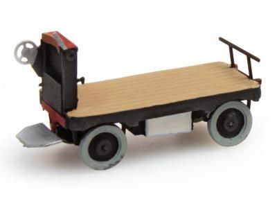 Elektrische Bahnsteigkarre schwarz - 1:160 Fertigmodell