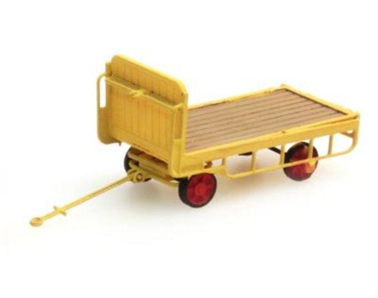 Luggage trailer gelb