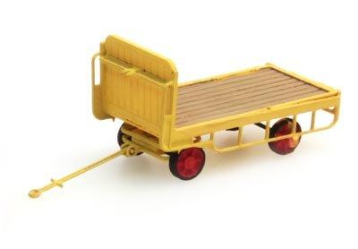 Anhänger für Bahnsteigkarre gelb - 1:160 Fertigmodell