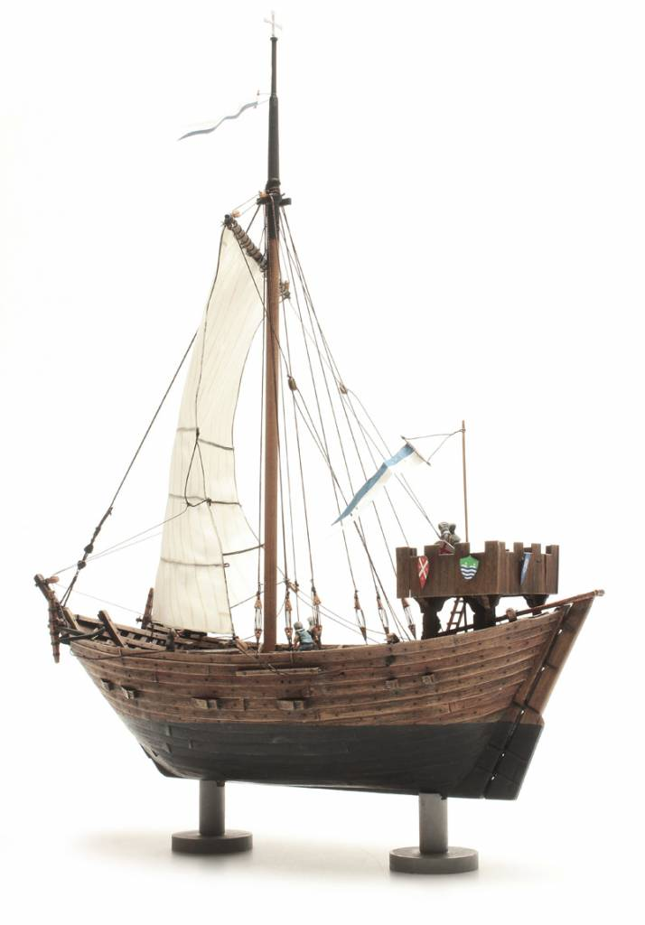 Acrylic Enamel Paint >> Cog ship 14th century - resin kit - 1:87 - Artitecshop