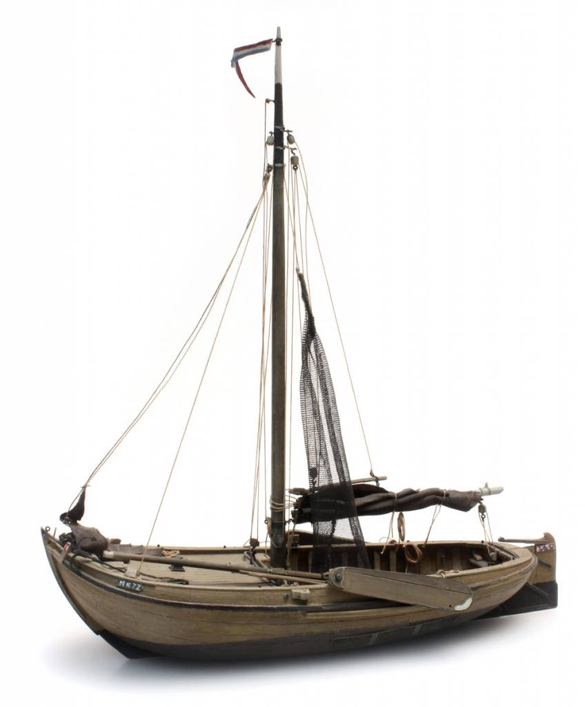 Botter Traditionelles Fischerschiff - Bausatz aus Resin - 1:87