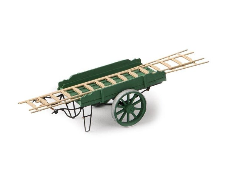 Ladder pushcart green