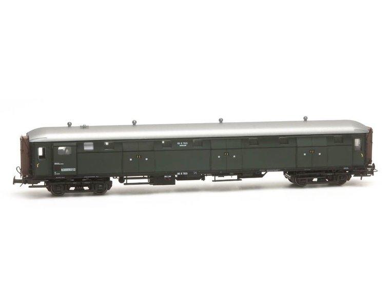 Stalen D 6-deurs bagagewagen D 7521 groen
