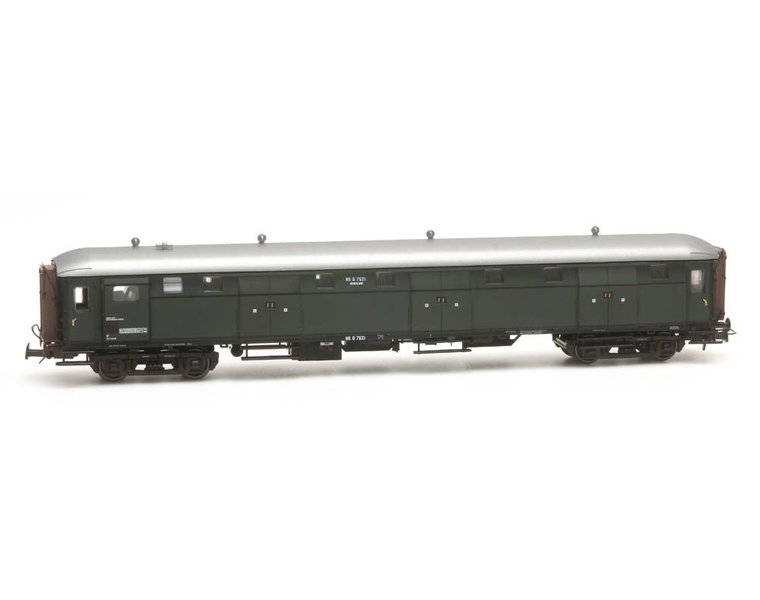 Stalen D 6-doors baggage car D 7521 green