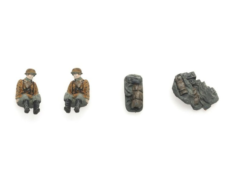 Kettenkrad crew and luggage camouflage