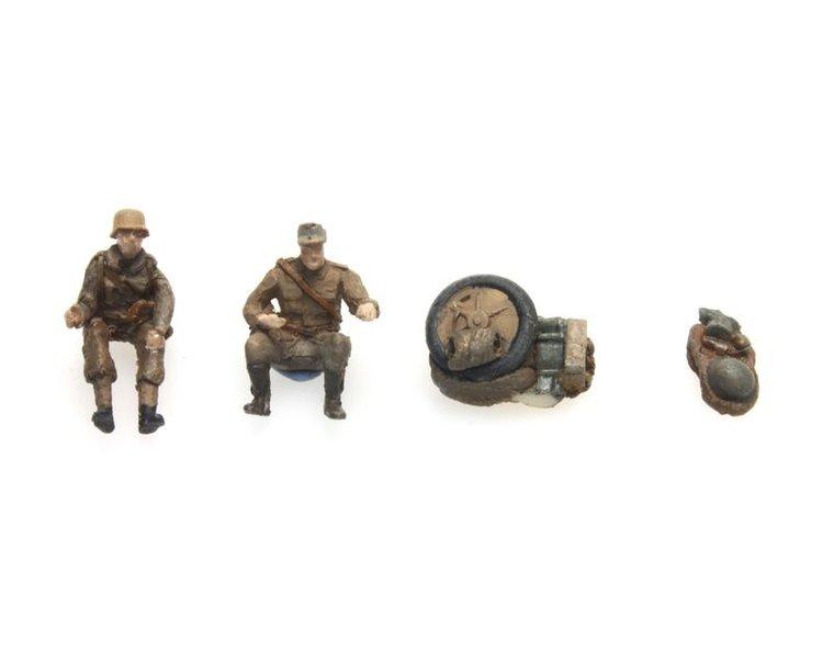 Kettenkrad bemanning en bepakking Afrikakorps
