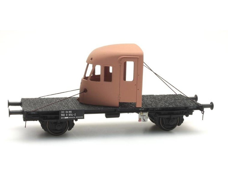 Dutch 2-axle flat car with DE-2