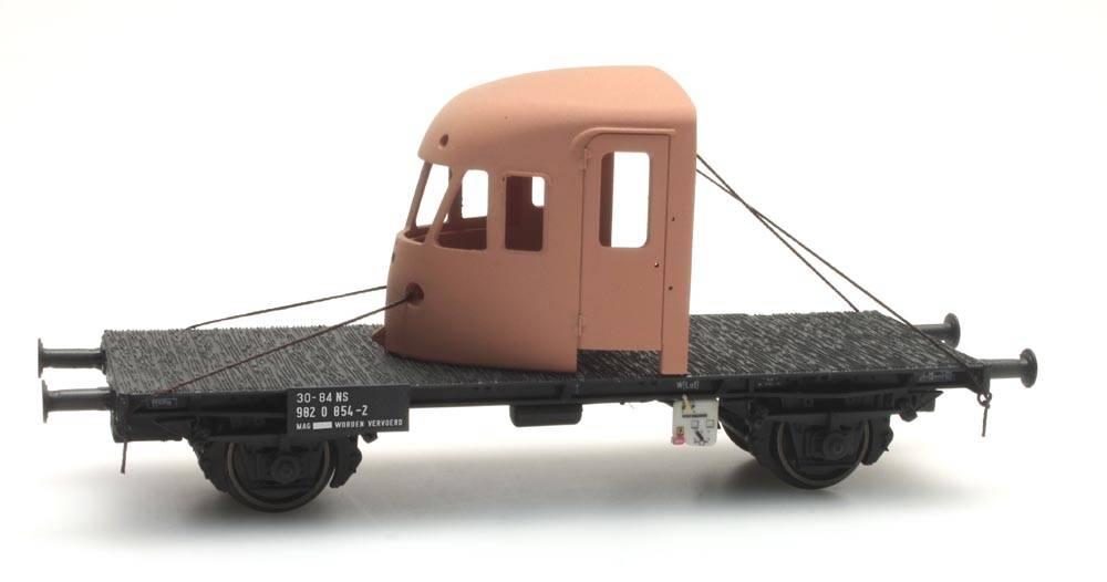 Dutch 2-axle flat car with DE-2