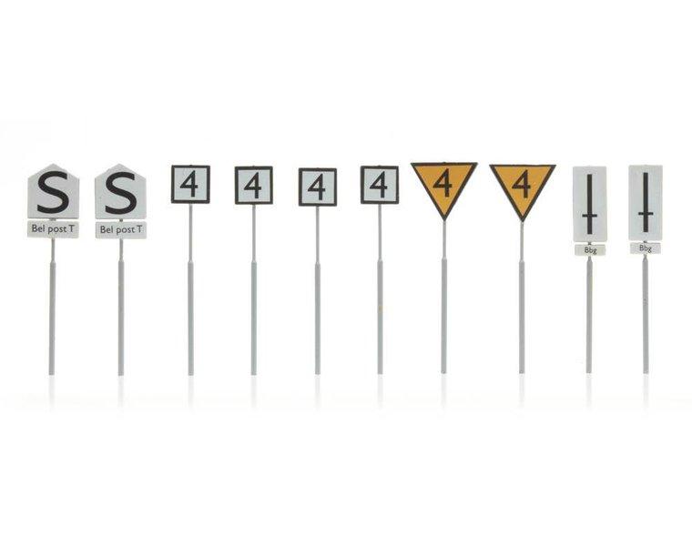Dutch railway signs yard 10 pieces