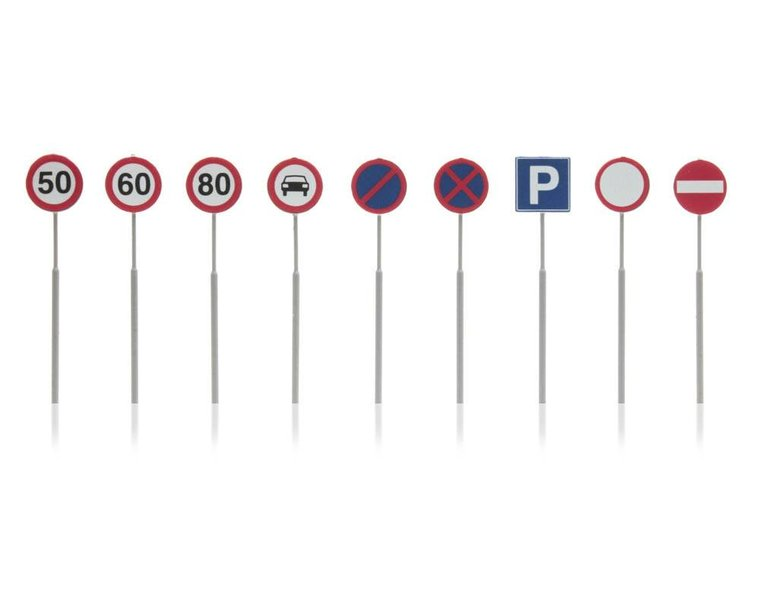 NL Verkehrsschilder: Geschwindigkeit, Parkverbot 9 Stück
