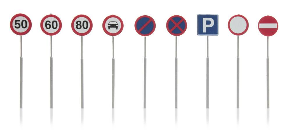 Dutch traffic signs 9 pieces