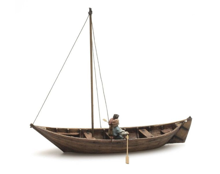 Rowboat + 2 figures, 15th century