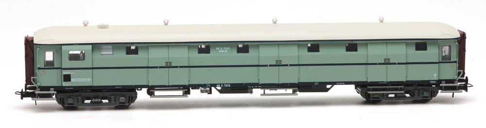 Stalen D 6-Türen Gepäckwagen D 7625 Türkis