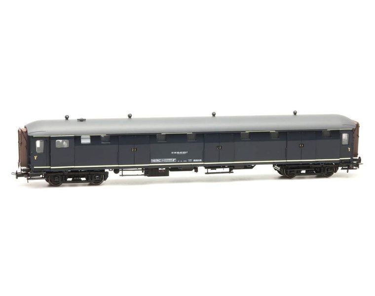 Stalen D 6-deurs bagagewagen 51 84 95-40 023-7, blauw