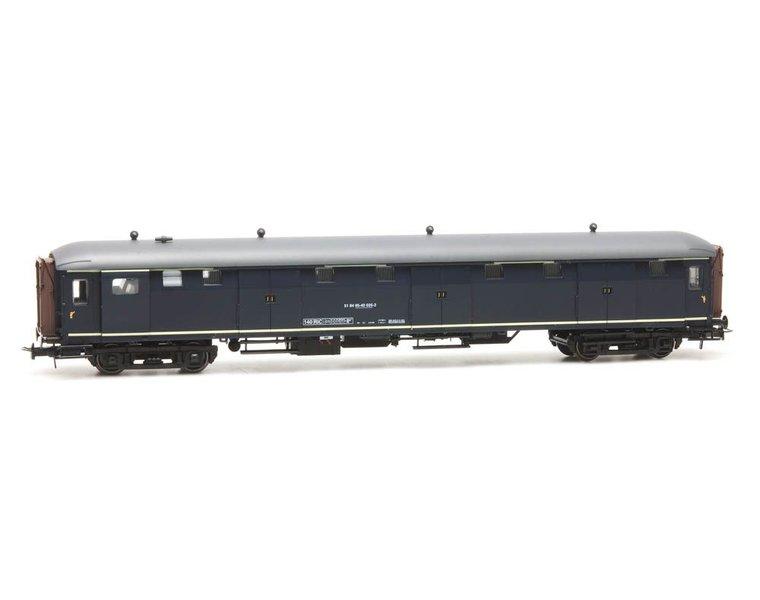 Stalen D 6-deurs bagagewagen 51 84 95-40 025-2, blauw