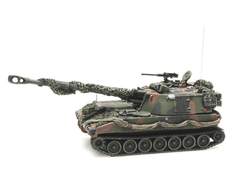 M109 A2 NAVO camouflage gevechtsklaar
