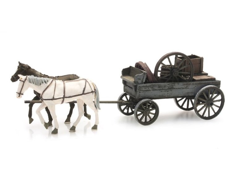 Flatcar with cargo