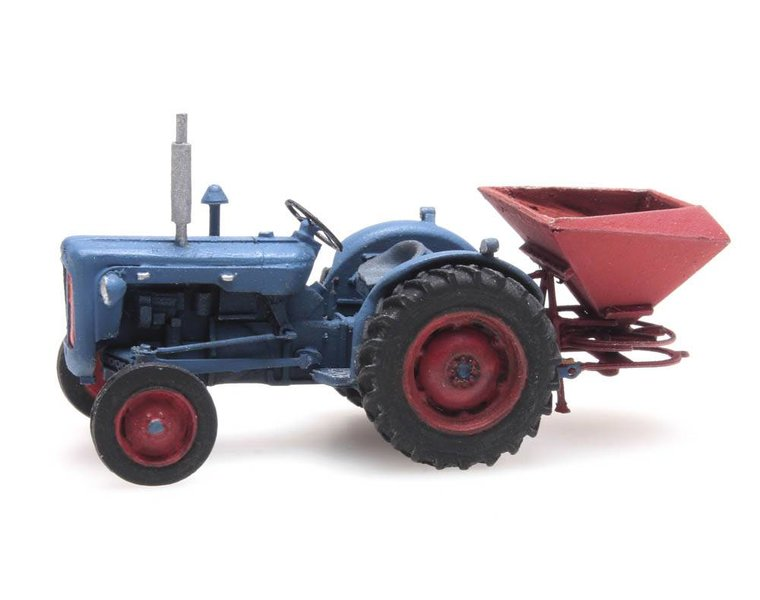 Fordson tractor with broadcast spreader