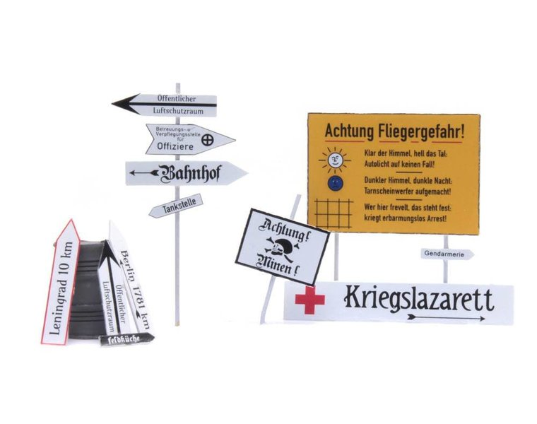 German street signs 1940-1945