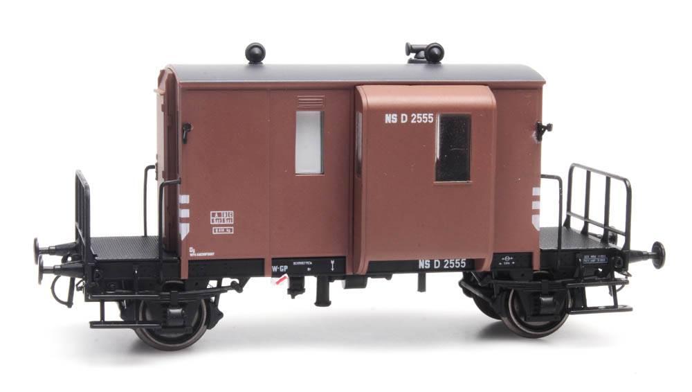 Güterzugbegleitwagen DG NS 2555 D Fahlbraun