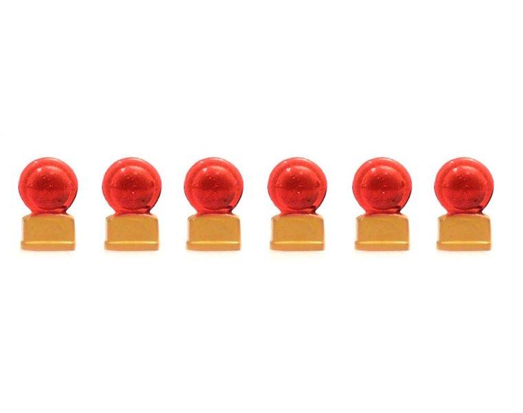 Rode knipperbollen (6x)