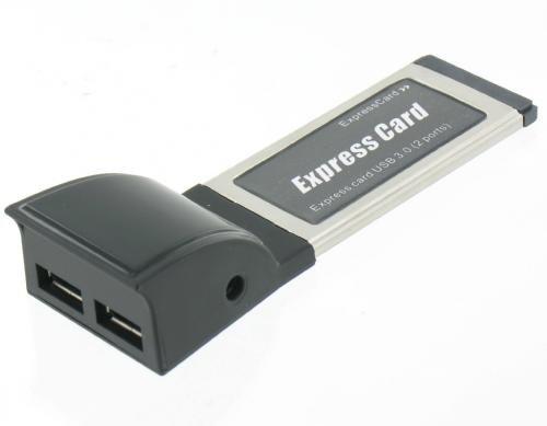 PCMCIA Express 2x USB 3.0 Adapter