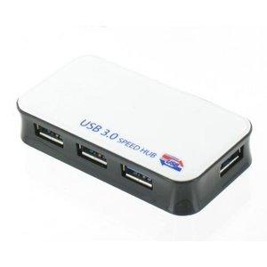 USB 3.0 Hub 4 poorts met Stroomadapter