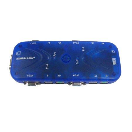 4 Poort Automatische KVM Switch