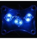 Laptop USB Koeler Pad Stand 3 Fan's