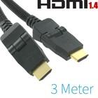 HDMI naar HDMI 3 Meter Met 2x 90° Connector