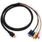 HDMI naar VGA + Tulp Kabel 1,5 Meter