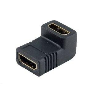 HDMI Female naar HDMI Female 90° Connector