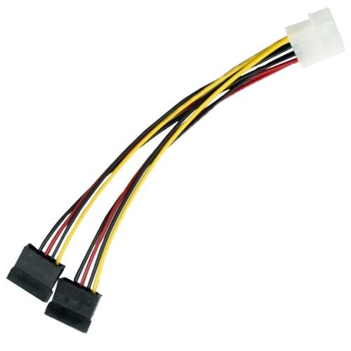 Molex Naar 2x SATA Power Splitter
