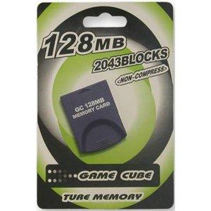 Geheugenkaart 128 MB voor GameCube en Wii