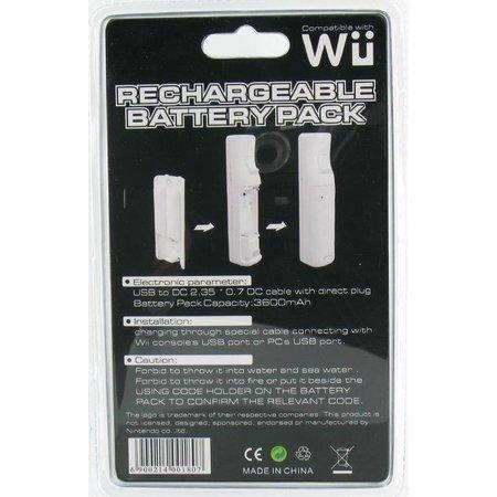 Accu Batterij voor Wii Controller 3600 mAh