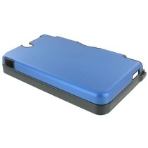 Blauwe aluminium beschermhoes voor de Nintendo DSi XL