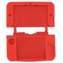 Siliconen Beschermhoes Rood voor 3DS XL