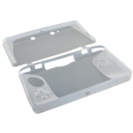 Siliconen Beschermhoes Wit / Transparant voor 3DS