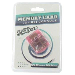 Geheugenkaart 256 MB voor GameCube en Wii