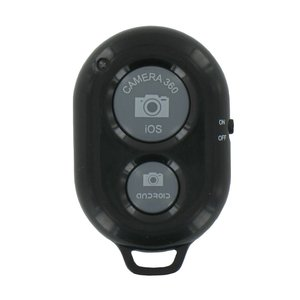 Bluetooth Camera Remote Shutter Zwart