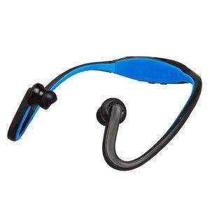 Sport Headset met MP3 Functie Blauw