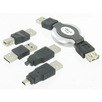 5 delige USB Connector Set