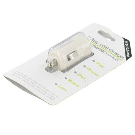 Auto USB Lader 2.1 Ampère Wit voor Tablet en Smartphone